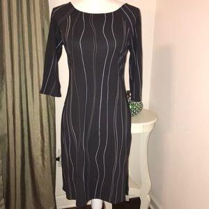 BCBG three-quarter sleeve dress